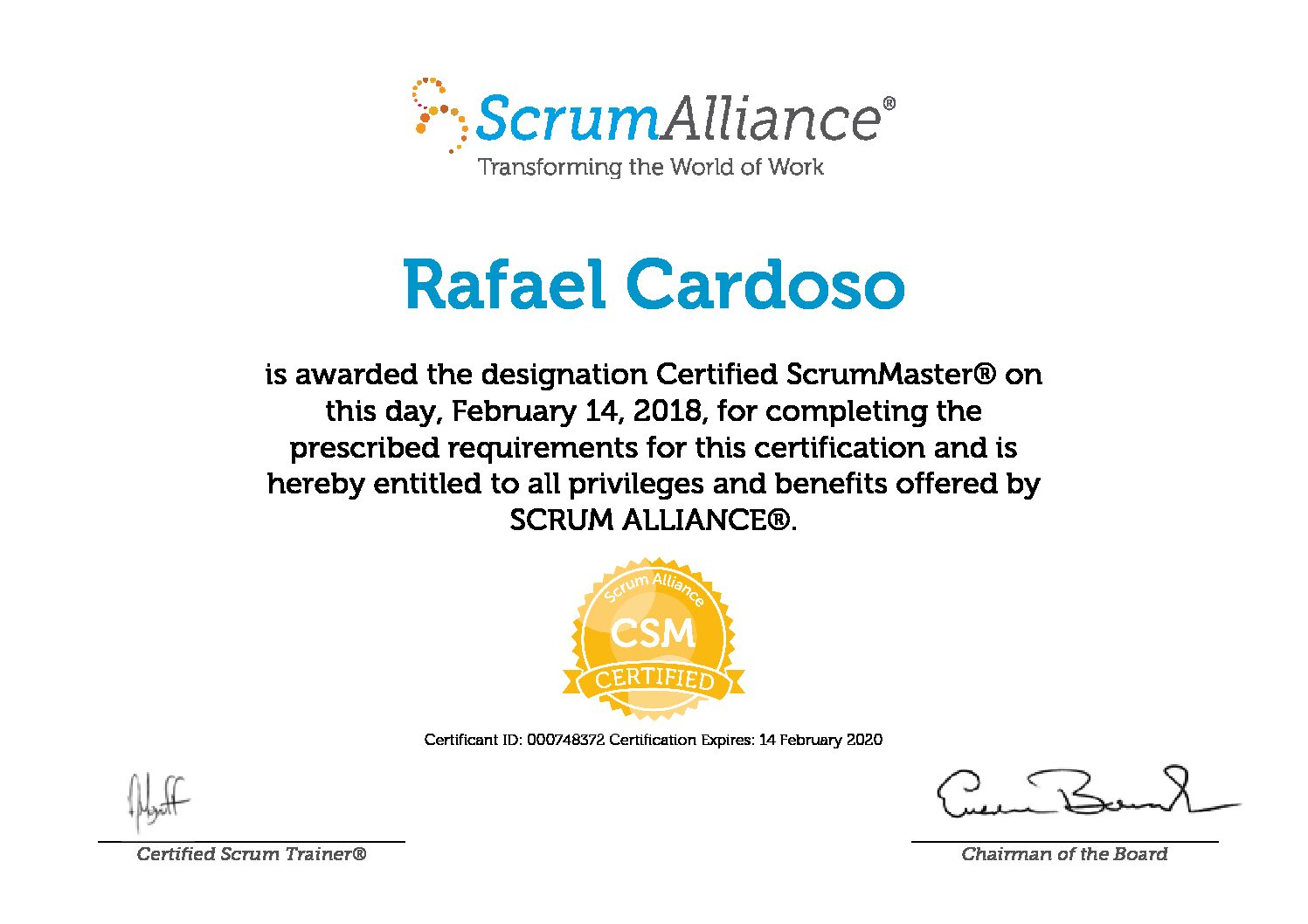 Oficially Certified Scrum Master Csm Rmc Walkthrough